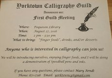 Calligraphy Guild Meeting and demo in Gloucester Point, Virginia
