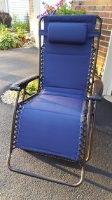 BRAND NEW Blue Padded Extra-Wide Zero Gravity Chair in Tinley Park, Illinois