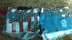 American Flag shorts in Fort Carson, Colorado