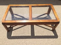 Wooden glass coffee table in Fort Bliss, Texas