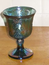 carnival glass goblet in Aurora, Illinois