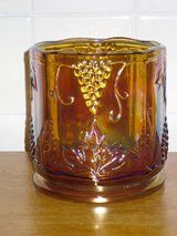 "amber carnival glass 5""h in Naperville, Illinois"