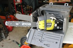 Ryobi RY3716 Chainsaw w/case in Macon, Georgia