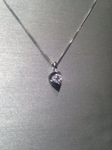 "1/5 CT. Certified Canadian Diamond Solitaire Pendant in 14K White Gold - 17"" in MacDill AFB, FL"