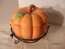Covered Pumpkin in Stand by Tem-tations in Naperville, Illinois