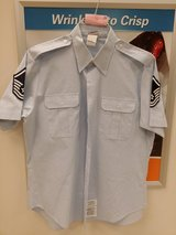Men's short sleeve blues shirt size 17 in Travis AFB, California