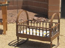 Antique Oak  Rocking Baby Cradle in Alamogordo, New Mexico