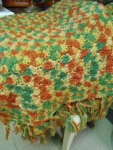 Rust, Green, & Gold Afghan in Cherry Point, North Carolina