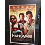 The Hangover cast signed movie poster in Glendale Heights, Illinois