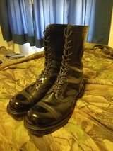 Black jump boots in Fort Benning, Georgia