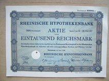 Old German Stock Certificate (July 1923) in Mannheim, GE
