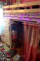 Loft bed with separate drawer stairs in Naperville, Illinois