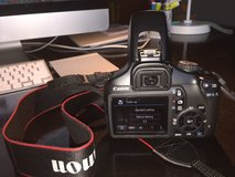 Canon EOS Rebel T3 DSLR Camera + Wall Charger, 2 Batteries, 2GB SD Card & USB Cable in Ramstein, Germany