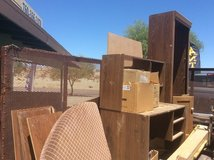 Small desk shelf three boxes of books needs picked up today free in 29 Palms, California