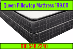 New Queen pillowtop mattresses in Cherry Point, North Carolina