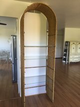 7-1/2' ht Wicker/Rattan With Glass Shelves Display Cabinet in Chicago, Illinois