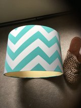 Small CHEVRON DRUM lamp shade teal & white in Kingwood, Texas