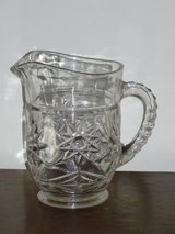 """vintage pressed glass pitcher 6"""" in Naperville, Illinois"""
