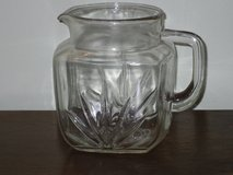 1940s federal glass sunburst pitcher in Lockport, Illinois