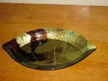 "leaf motif glass plate 13x7.5"" in Naperville, Illinois"