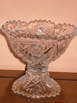 vintage crystal candy/nut dish in Bolingbrook, Illinois
