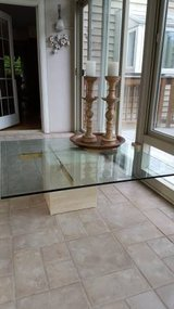 High End Marble Base Large Coffee Table in Batavia, Illinois