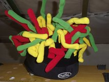 Ski helmet cover -  Red yellow and green bendy twizzlers in Ramstein, Germany