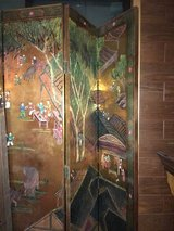 Antique folding screen in Okinawa, Japan