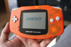 Gameboy Advance (Orange), Brand New Housing, Glass Lens in Phoenix, Arizona