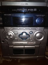 Aiwa stereo dual cassettes CD player with dual speakers in Warner Robins, Georgia
