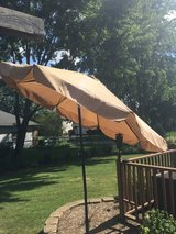 Outdoor umbrella & stand - pottery barn in Glendale Heights, Illinois