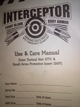 INTERCEPTOR POINT BLANK BODY ARMOUR WITH NECK R AND L CHEST AND BACK AND GROIN INSERTS! in Warner Robins, Georgia