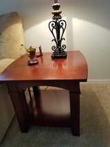Set of 2 End Tables Cherry Wood in Fort Lewis, Washington