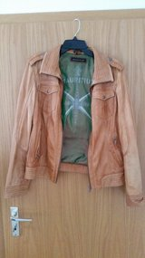 100 % Real Soft Leather Jacket cognac, Size 42 (L) in Ramstein, Germany