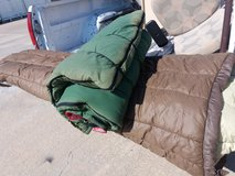 Sleeping bag in Fort Riley, Kansas