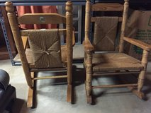 Kids Cracker Barrel wooden rocking chairs in 29 Palms, California