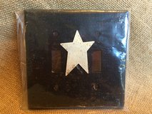 (NEW) Primitive/Rustic Black Double Light Switch Plate Covers w/ White Star in Chicago, Illinois