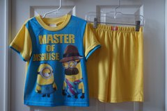 Boys Despicable Me 2-Piece Pajama Set Size 6 in Joliet, Illinois