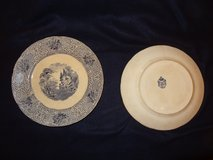 two vintage English plates in Conroe, Texas