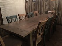 9' Farmhouse table 10 Chairs in Fort Rucker, Alabama