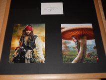 Johnny Depp, orig. Autograph, and 4 Movie photos Framed in Alamogordo, New Mexico