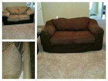 Love Seat with Couch Cover in Fort Rucker, Alabama
