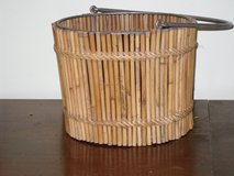 """bamboo basket 9""""h in St. Charles, Illinois"""