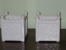 "cute 3""x3"" ceramic planters in Oswego, Illinois"
