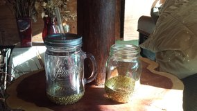Pint mason jars with glitter in Alvin, Texas