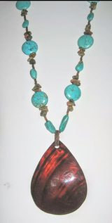 Handmade Turquose, Shell, and Unakite Necklace in Warner Robins, Georgia