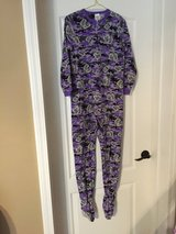 Purple Footed Onesie PJs girls 10/12 in Clarksville, Tennessee