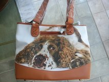Dog Lover's Leather-Trimmed Tote Bag Springer Spaniel in Naperville, Illinois