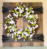 Farmhouse Faux Gate/Wreath Hanger in Kingwood, Texas