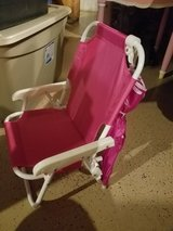 Toddler pink folding chair with umbrella new in Naperville, Illinois